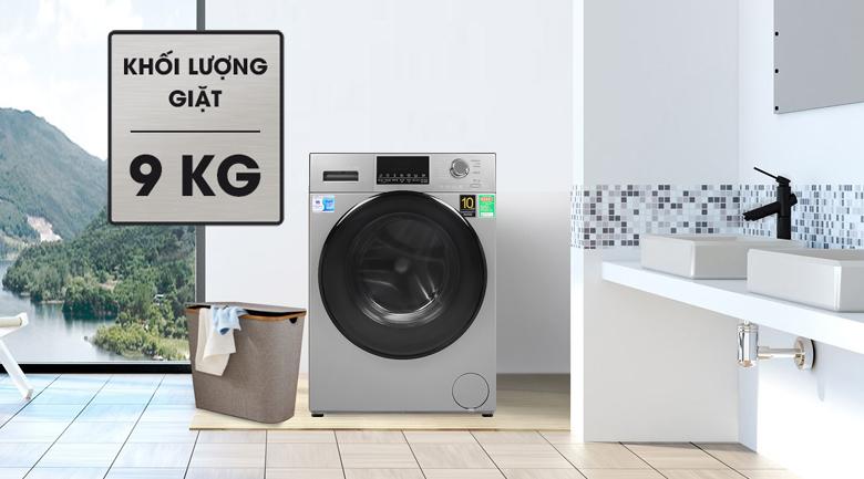 Thiết kế-Máy giặt Aqua Inverter 9 kg AQD-D900F S