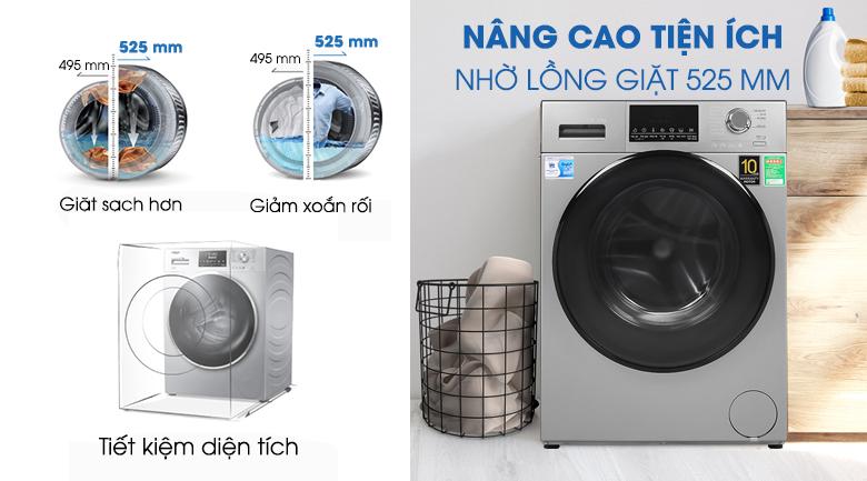 Lồng giặt-Máy giặt Aqua Inverter 9 kg AQD-D900F S