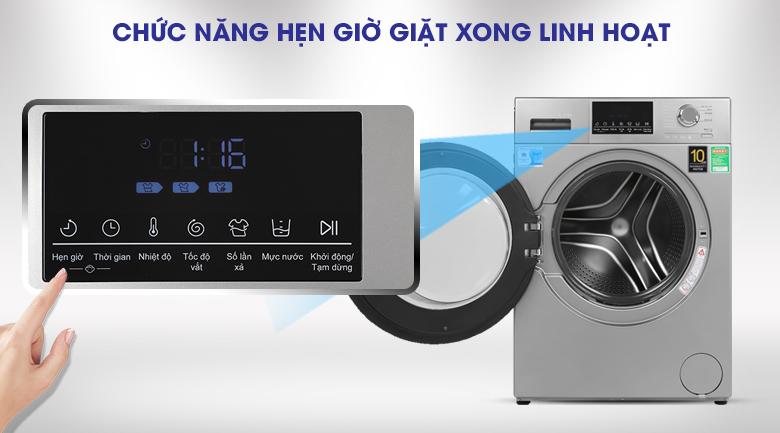 Hẹn giờ-Máy giặt Aqua Inverter 9 kg AQD-D900F S