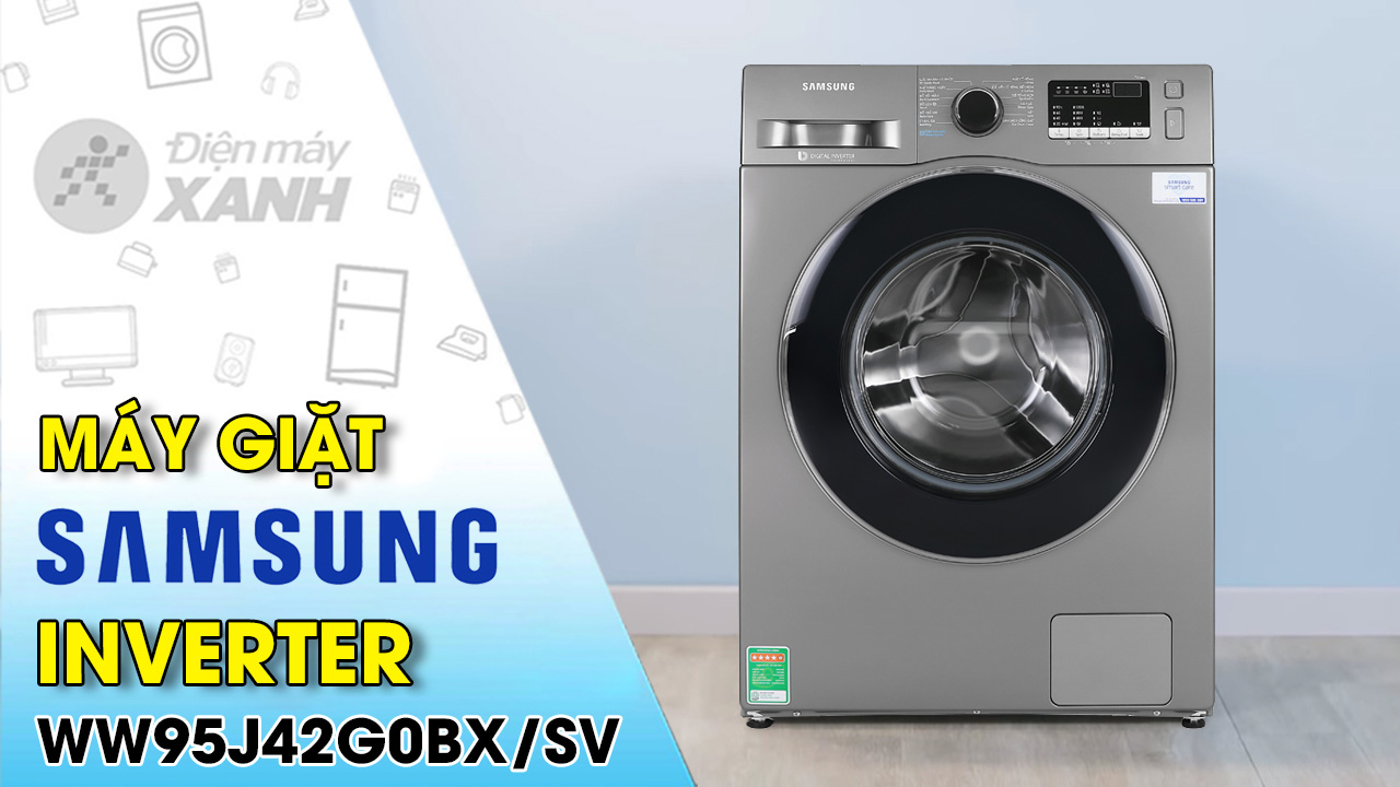Máy giặt Samsung Inverter 9.5 kg WW95J42G0BX/SV