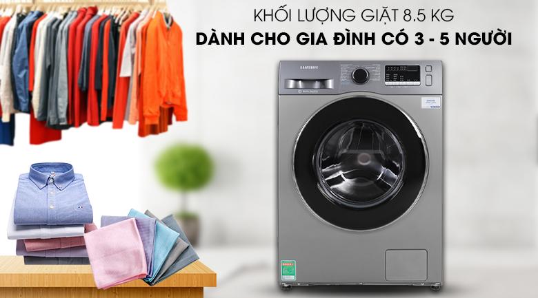 Máy giặt Samsung Inverter 8.5 kg WW85J42G0BX/SV với khối lượng giặt 8 kg