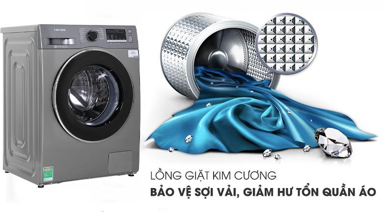 Máy giặt Samsung Inverter 8.5 kg WW85J42G0BX/SV có lồng giặt kim cương
