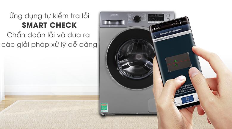 Máy giặt Samsung Inverter 8.5 kg WW85J42G0BX/SV được điều khiển qua điện thoại