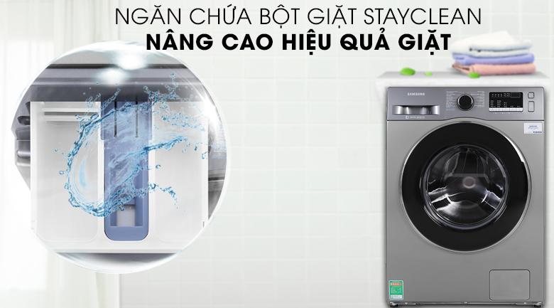 Máy giặt Samsung Inverter 8.5 kg WW85J42G0BX/SV có ngăn chứa bột giặt tiện lợi