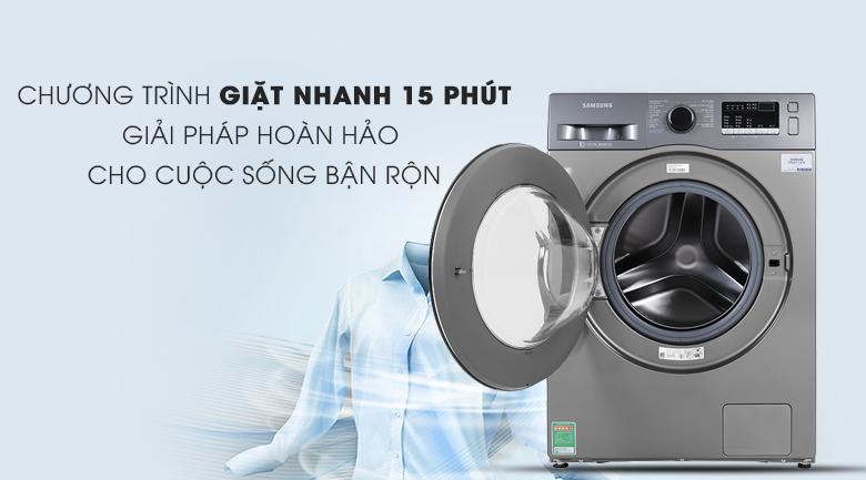 Máy giặt Samsung Inverter 8.5 kg WW85J42G0BX/SV có chương trình giặt nhanh