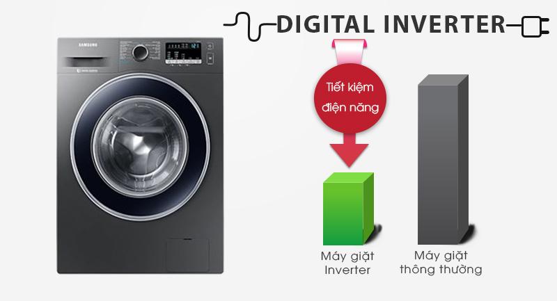 Máy giặt Samsung Inverter 8.5 kg WW85J42G0BX/SV-Mang lại hiệu quả tiết kiệm điện, vận hành êm nhờ công nghệ Digital Inverter