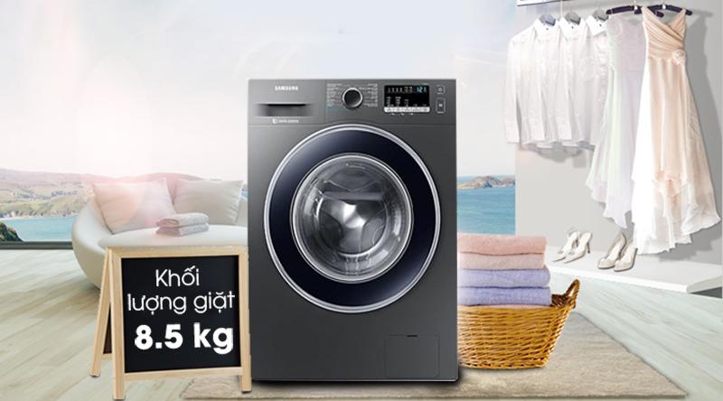 Máy giặt Samsung Inverter 8.5 kg WW85J42G0BX/SV-Khối lượng giặt 8,5kg, phù hợp gia đình trên 6 người