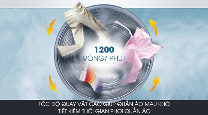 Máy giặt Samsung Inverter 8.5 kg WW85J42G0BX/SV-Rút ngắn thời gian phơi khô quần áo với chức năng vắt cực khô