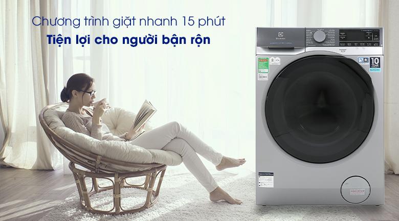 Máy giặt Electrolux EWF1141SESA - Giặt nhanh 15 phút