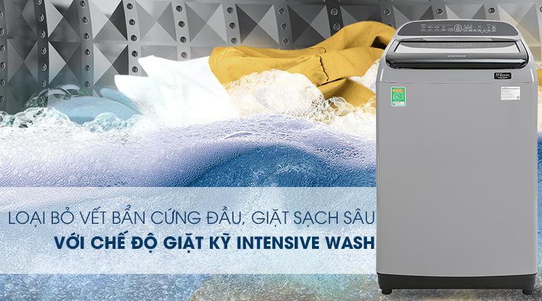 Máy giặt Samsung Inverter 8.5 kg WA85T5160BY/SV-Đánh bay dễ dàng vết bẩn cứng đầu nhờ công nghệ Intensive Wash