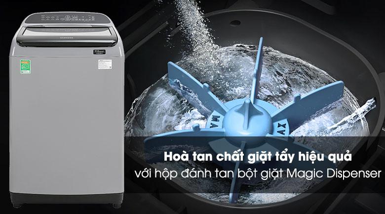 Máy giặt Samsung Inverter 8.5 kg WA85T5160BY/SV-Hòa tan bột giặt hiệu quả nhờ hộp Magic Dispencer