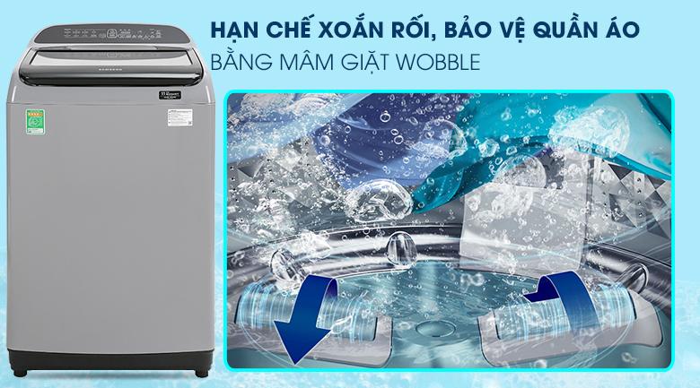 Máy giặt Samsung Inverter 8.5 kg WA85T5160BY/SV-Bảo vệ sợi vải tối ưu với thanh chống xoắn rối Wobble
