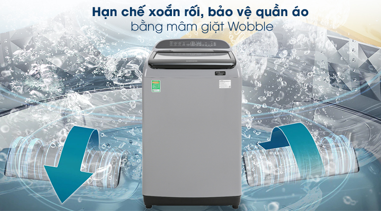 Máy giặt Samsung Inverter 9 kg WA90T5260BY/SV - Mâm giặt Wobble
