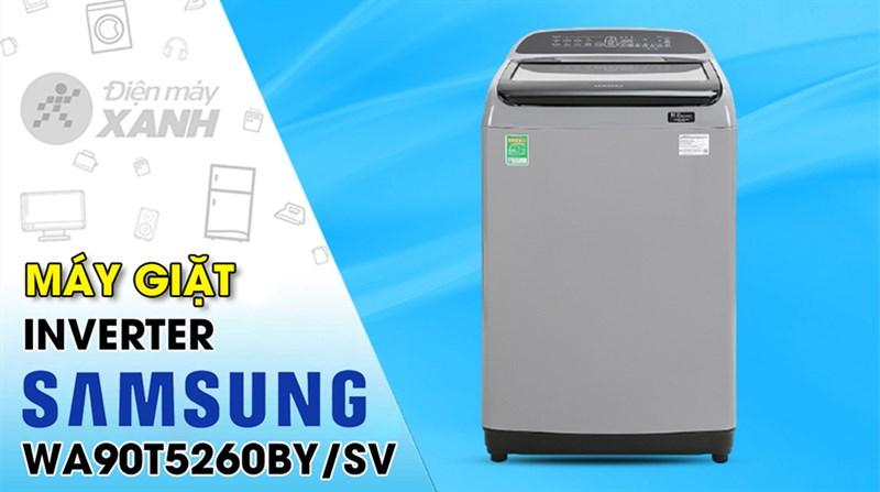 Máy giặt Samsung Inverter 9 kg WA90T5260BY/SV