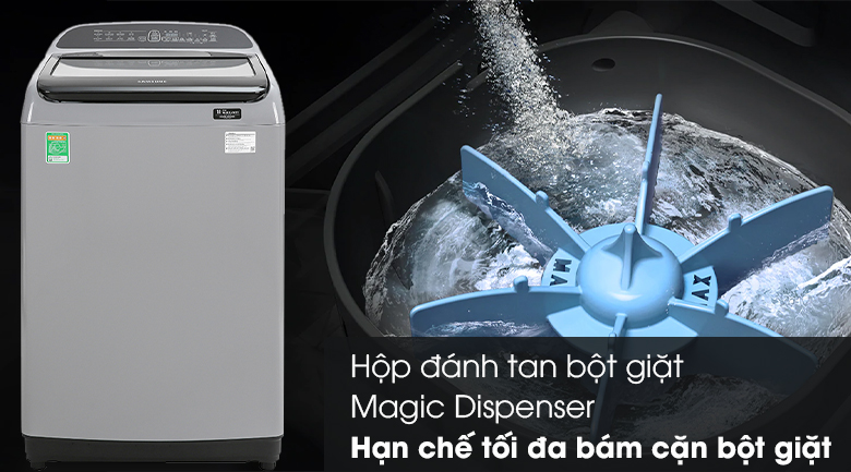 Máy giặt Samsung Inverter 10 kg WA10T5260BY/SV - Hộp đánh tan bột giặt Magic Dispenser