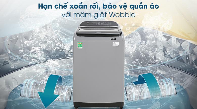 Máy giặt Samsung Inverter 10 kg WA10T5260BY/SV - Mâm giặt Wobble tạo luồng nước đa chiều