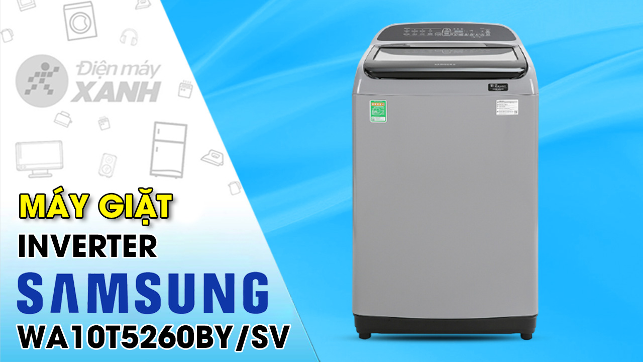 Máy giặt Samsung Inverter 10 kg WA10T5260BY/SV