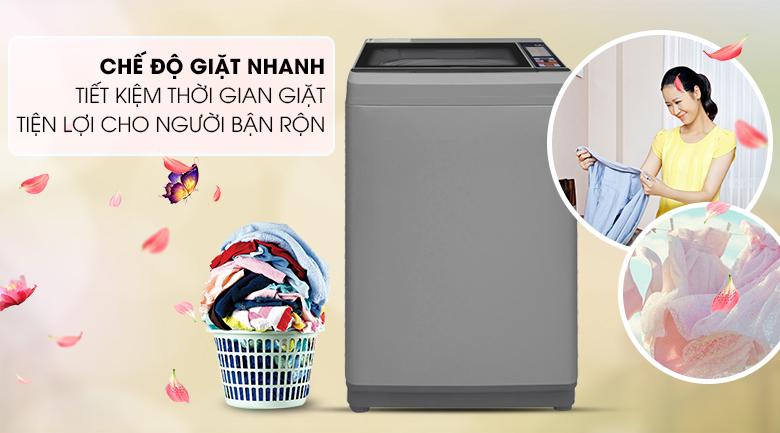 Máy giặt Aqua 8.5 Kg AQW-S85FT.N-Tiết kiệm thời gian với chương trình giặt nhanh