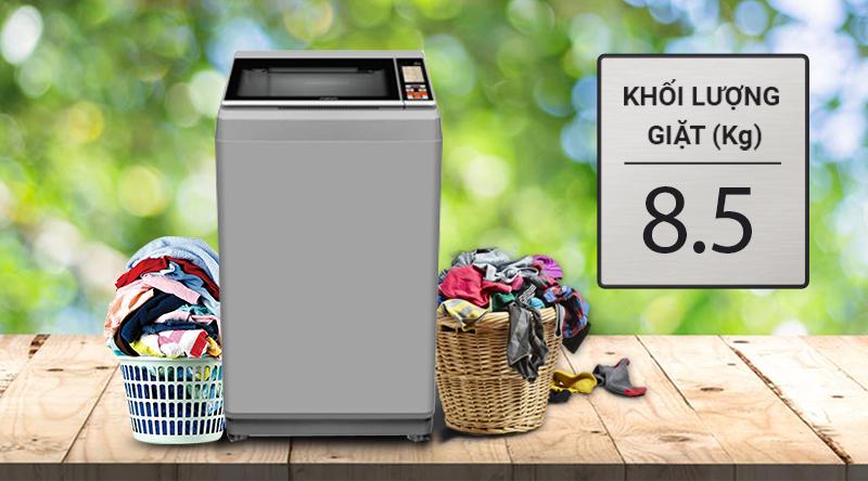 Máy giặt Aqua 8.5 Kg AQW-S85FT.N-Khối lượng giặt 8.5kg, phù hợp gia đình từ 4 - 5 người