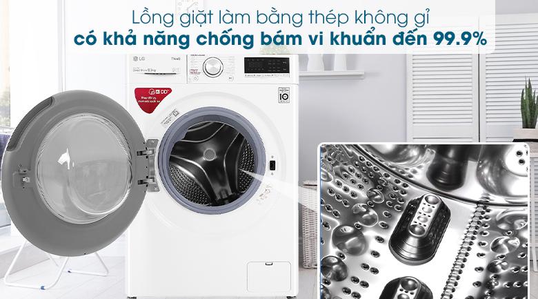 Máy giặt LG Inverter 8.5 kg FV1408S4W - Thép không gỉ