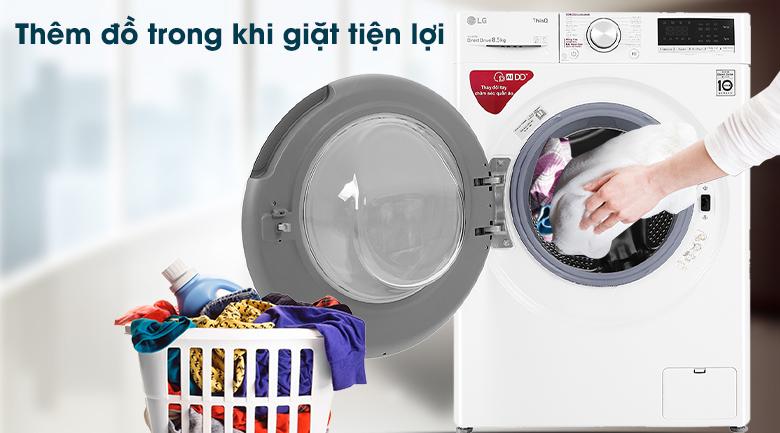Máy giặt LG Inverter 8.5 kg FV1408S4W - Thêm đồ khi giặt