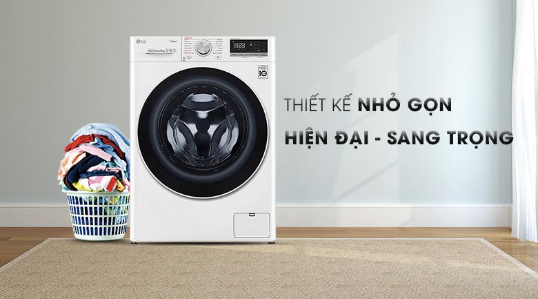 Máy giặt LG Inverter 8.5 kg FV1408S4W | Thiết kế