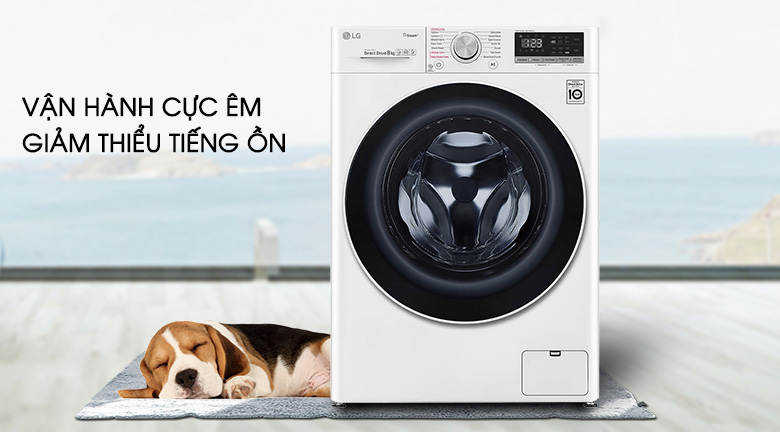 Máy giặt LG Inverter 8.5 kg FV1408S4W | Giặt yên tĩnh