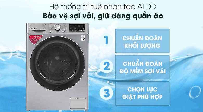Máy giặt LG Inverter 8.5 kg FV1408S4V - Hệ thống AI và DD