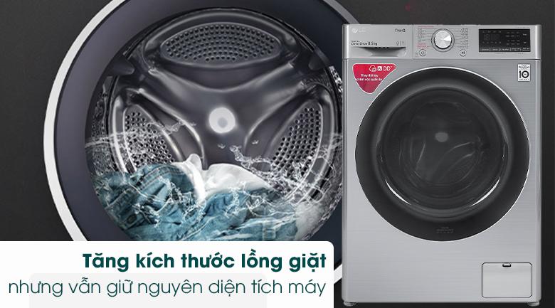 Máy giặt LG Inverter 8.5 kg FV1408S4V - Tăng kích thước lồng giặt
