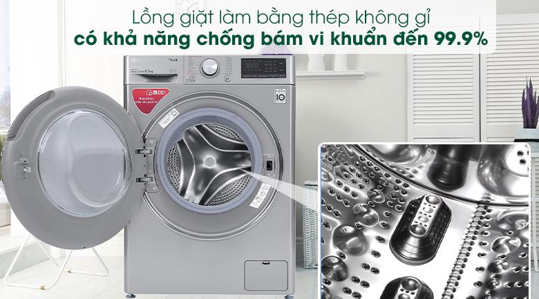 Máy giặt LG Inverter 8.5 kg FV1408S4V - Thép không gỉ