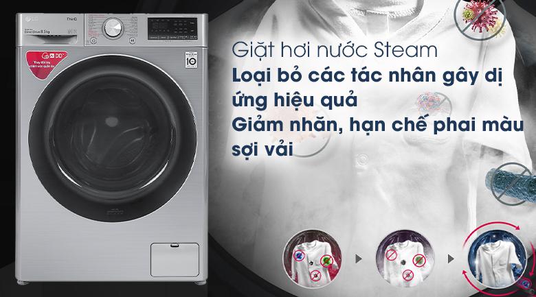 Máy giặt LG Inverter 8.5 kg FV1408S4V - Giặt hơi nước