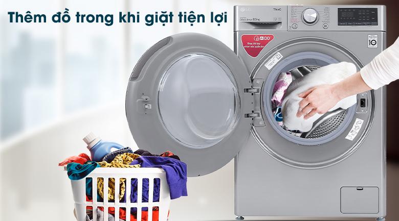 Máy giặt LG Inverter 8.5 kg FV1408S4V - Thêm đồ tiện lợi