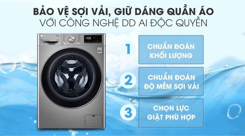 Máy giặt LG Inverter 8.5 kg FV1408S4V | Trí tuệ nhân tạo