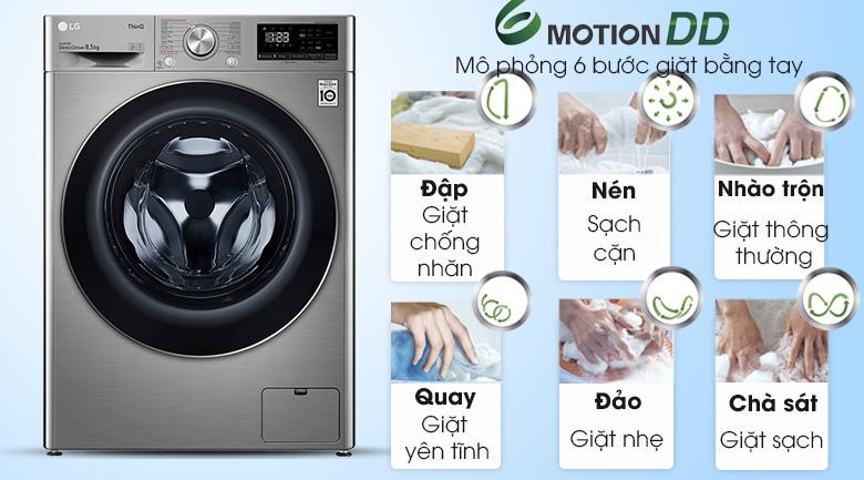 Máy giặt LG Inverter 8.5 kg FV1408S4V | Giặt 6 chuyển động