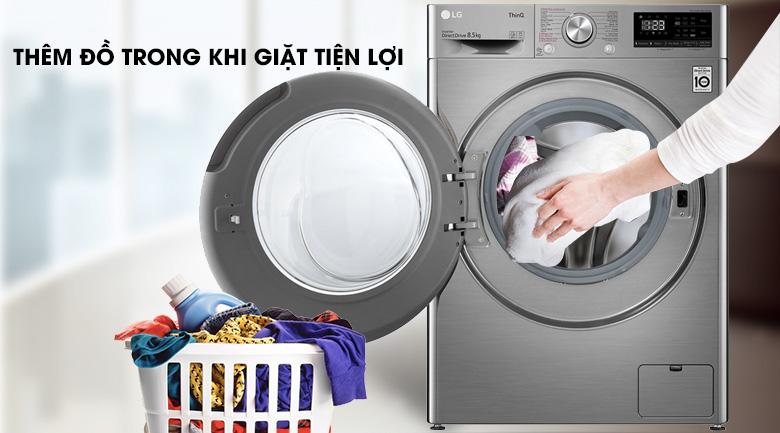 Máy giặt LG Inverter 8.5 kg FV1408S4V | Thêm đồ trong khi giặt