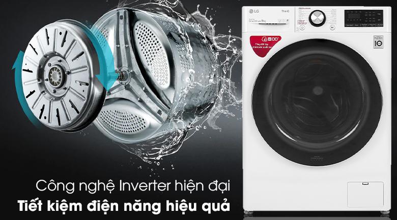Máy giặt LG Inverter 9 kg FV1409S2W  - Công nghệ Inverter hiện đại