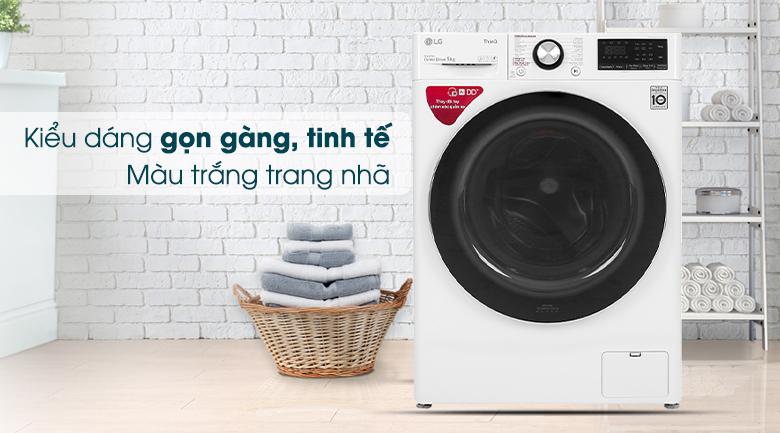 Máy giặt LG Inverter 9 kg FV1409S2W - Thiết kế thanh lịch, nhỏ gọn
