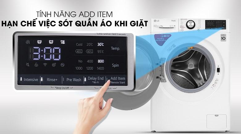 Máy giặt LG FV1409S2W - có tính năng thêm đồ khi giặt