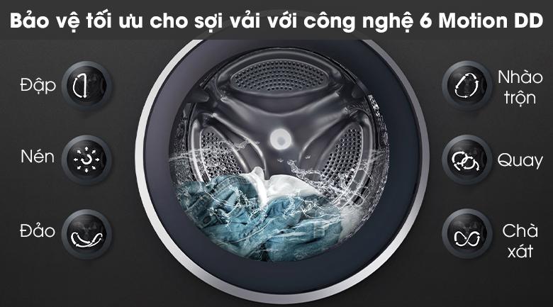 Máy giặt LG FV1409S2W - Giặt 6 chuyển động