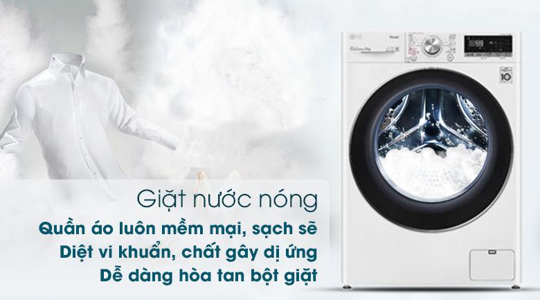 Máy giặt LG FV1409S2W - Giặt nước nóng