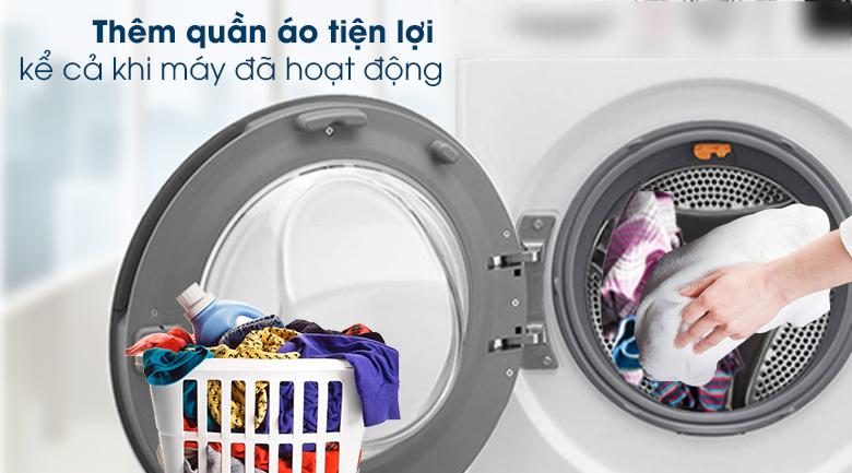 Máy giặt LG Inverter 9 kg FV1409S2W - Add Item - Thêm đồ trong khi giặt