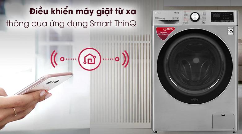 Máy giặt LG Inverter 9 kg FV1409S2V - Điều khiển máy giặt từ xa thông qua ứng dụngSmart ThinQ
