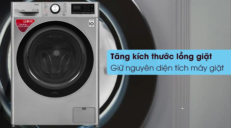 Máy giặt LG Inverter 9 kg FV1409S2V - Tăng kích thước lồng giặt