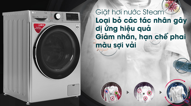Máy giặt LG Inverter 9 kg FV1409S2V - Giặt hơi nước Steam