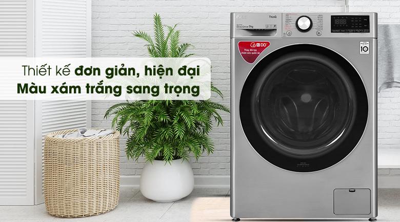 Máy giặt LG Inverter 9 kg FV1409S2V - Thiết kế sang trọng
