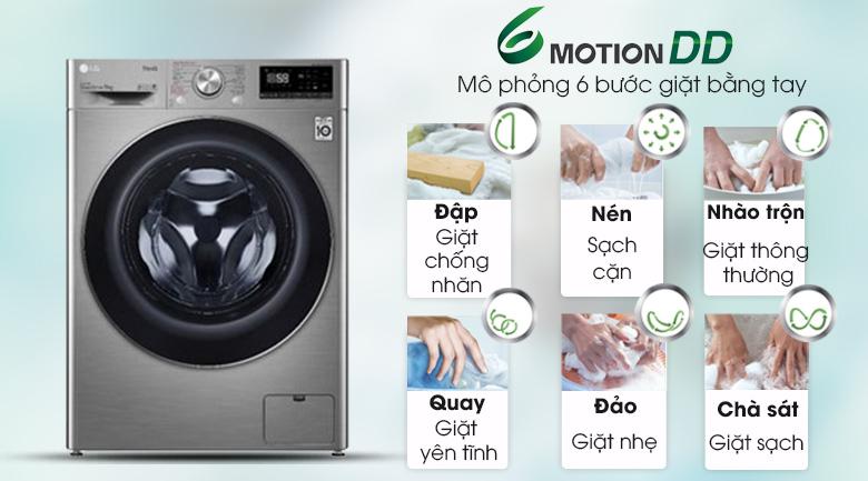 Máy giặt LG Inverter 9 kg FV1409S2V - 6 Motion