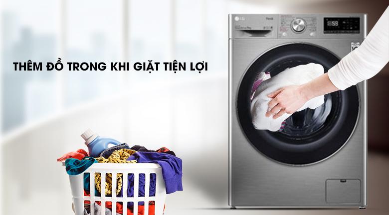 Máy giặt LG Inverter 9 kg FV1409S2V - Thêm đồ khi giặt