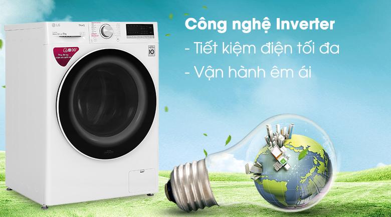 Máy giặt LG Inverter 9 kg FV1409S4W - Công nghệ Inverter