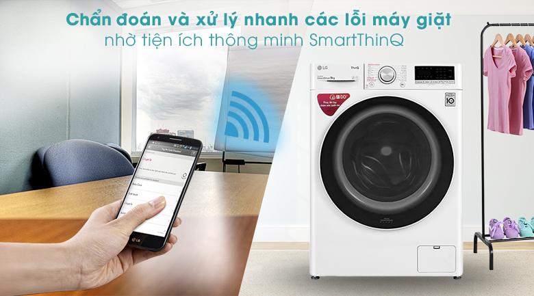 Máy giặt LG Inverter 9 kg FV1409S4W -Tiện ích SmartThinQ