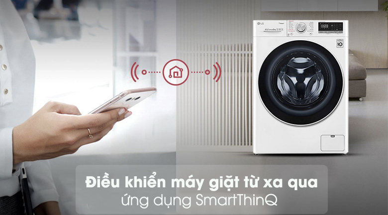 Máy giặt sấy LG Inverter 8.5 kg FV1408G4W | Điều khiển từ xa